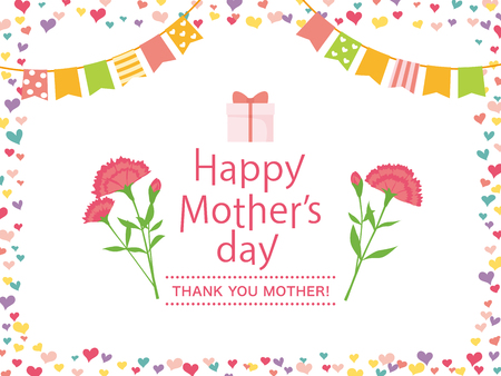 Mothers day greeting card image illustration