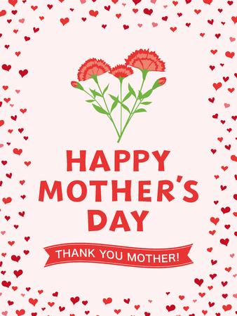 Mother's day greeting card image illustration Vettoriali