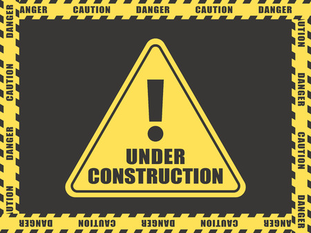 Under construction vector sign.