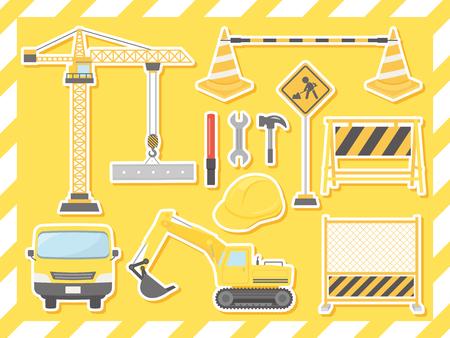 Construction vector illustration set. Vetores