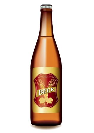 bottled beer vector illustration. Illustration