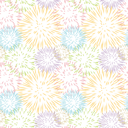 firework vector seamless pattern.