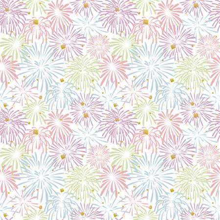 firework vector seamless pattern.