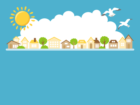Summer landscape vector illustration. Standard-Bild - 104098251