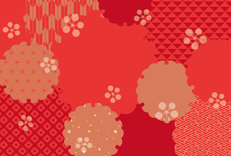 Japanese classic pattern vector background. Çizim