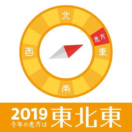 Japanese lucky direction in 2019 year