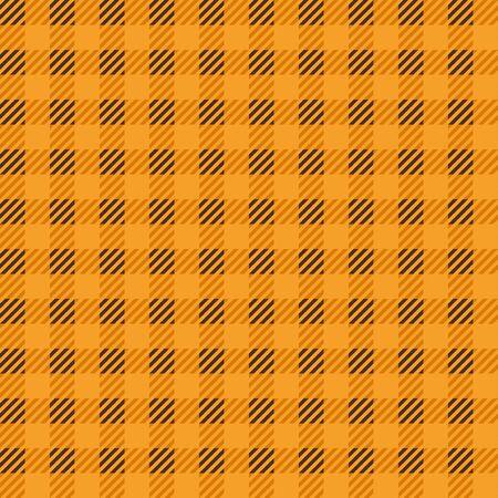 tartan check seamless pattern. Orange color. Stock Illustratie