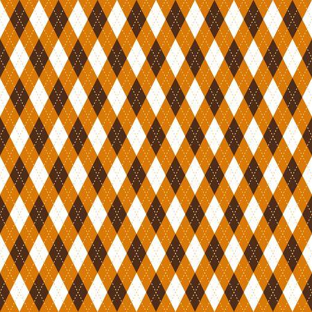 argyle seamless pattern. Orange color.