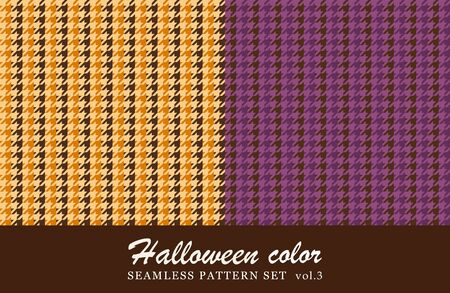 Houndstooth seamless pattern set. halloween color.
