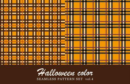tartan check seamless pattern set. halloween color.tartan check seamless pattern set. halloween color.