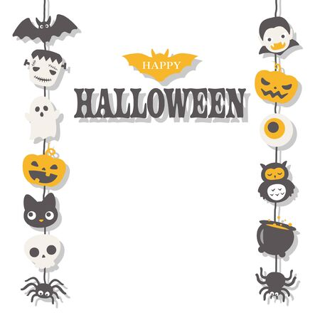 Halloween cute character vector illustration. Illustration