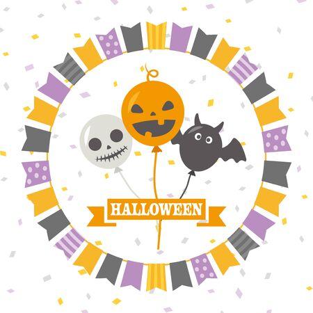Halloween character balloon vector illustration. Standard-Bild - 130270267