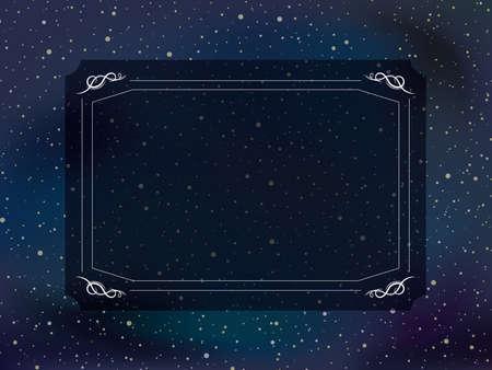 stardust sky background. vector frame.