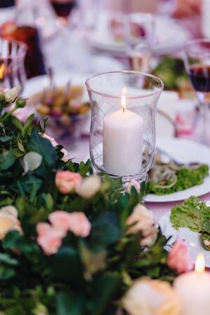 wedding ceremony decoration, chairs, arches, flowers and various festive decor