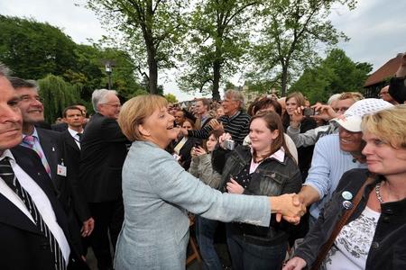 Chancellor Angela Merkel Varus Battlefield Germany
