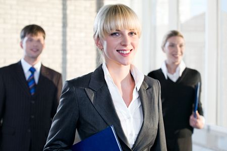 Portrait of female leader on the background of business people Stock Photo - 2432337