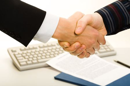 Image of business people's hands making an agreement Stock Photo - 2430140