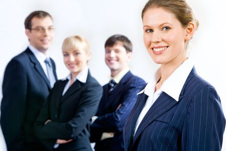 Portrait of the best professional on the background of  business team Stock Photo - 2464880