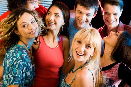 Happy group of people having an evening-party Stock Photo - 2644771