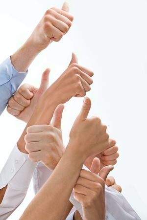 Photo of hands showing sign of okay placed one above the other Stock Photo - 2657518