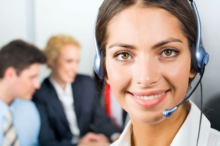 fascinating: Portrait of attractive business woman with fascinating smile