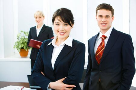 Portrait of confident business people looking at camera Stock Photo - 2885022