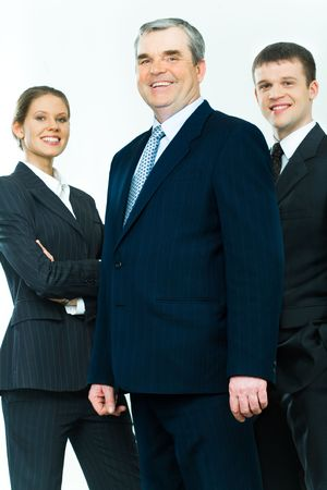 Portrait of business team with mature leader in front Stock Photo - 2885467