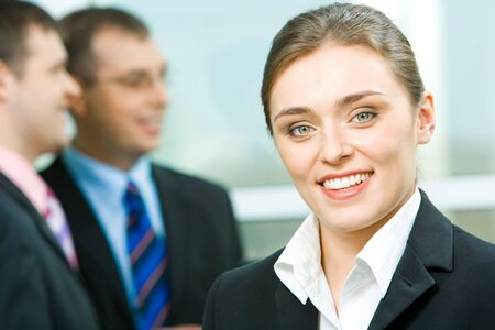 Face of young business woman looking at camera Stock Photo - 2885029