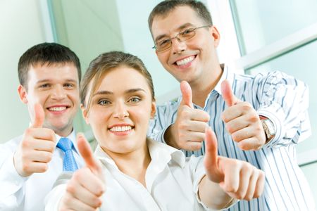 Image of business people showing sign of okay  Stock Photo - 2885027