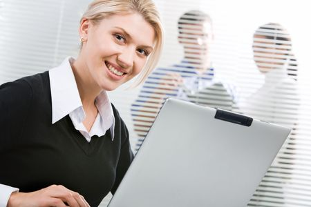 Successful young woman in a business environment Stock Photo - 2913184