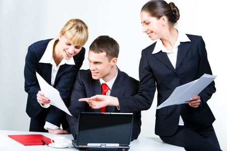 Business people gathered together for discussing a new project Stock Photo - 3052282