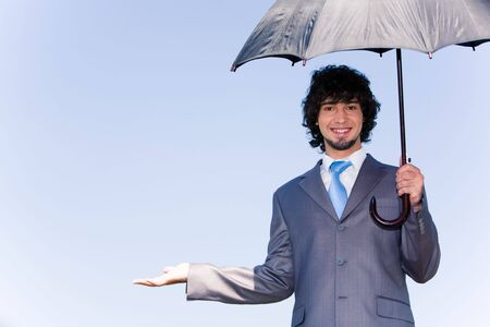 Photo of successful manager showing the termination of a rain photo