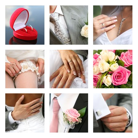 marriageable: Nuptial collage made up of different photos