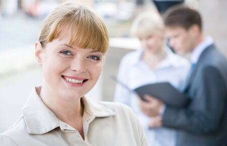 Portrait of successful female looking at camera with smile  Stock Photo - 3709047