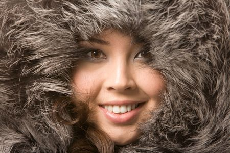 Close-up of pretty girl�s face looking at camera Stock Photo - 3725076