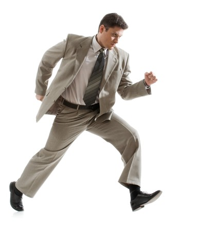 subordinate: Photo of angry businessman going to subordinate person
