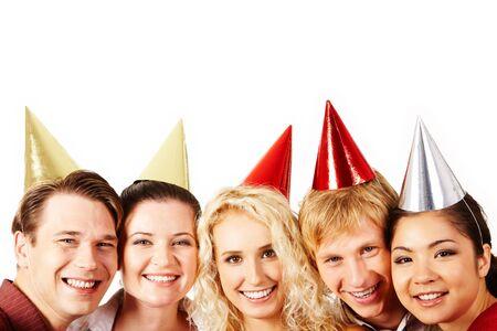 Caras de personas positivas, mirando a la c�mara con sonrisas felices Foto de archivo - 6106959