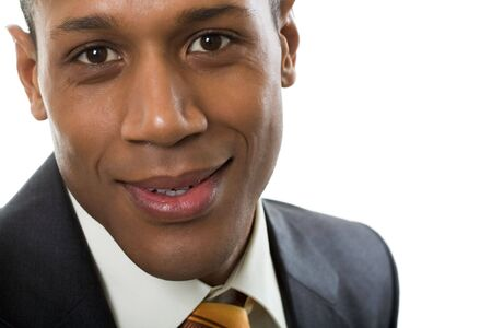 Face of happy Afro American businessman looking at camera with smile Stock Photo - 6226584