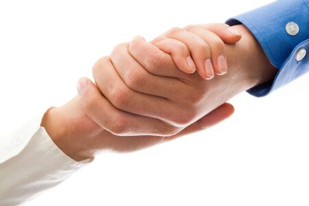 Image of partners handshake after signing contract Stock Photo - 6669421