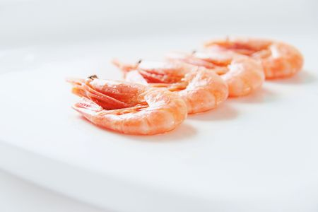 Image of tasty shrimps lying in row Stock Photo - 6669763