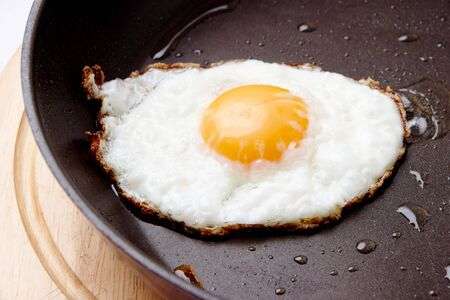 Image of fried egg on Teflon saucepan Stock Photo - 6670121