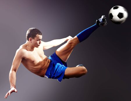 dinamismo: Pallone da calcio professionale sportivo calci  Archivio Fotografico