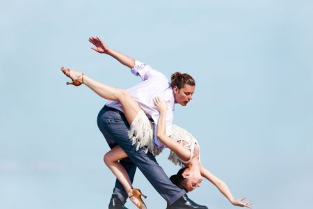 Image of professional dancers dancing outdoor photo