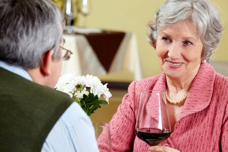 Image of beautiful senior woman looking at her husband with love  Stock Photo - 6893900