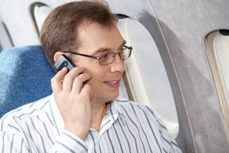Image of businessman speaking by the mobile phone Stock Photo - 6893995