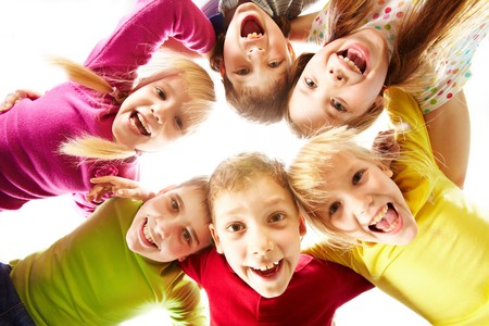 Image of happy kids representing youth and fun photo
