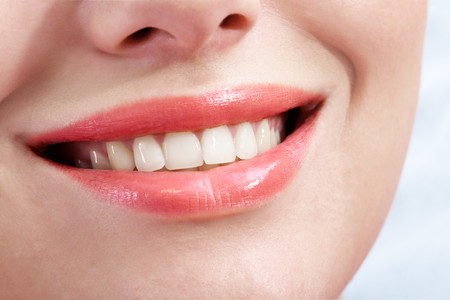 Close-up of female smile with healthy teeth Stock Photo - 6894741