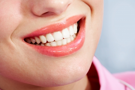 Image of  female mouth with white healthy teeth Stock Photo - 6894809