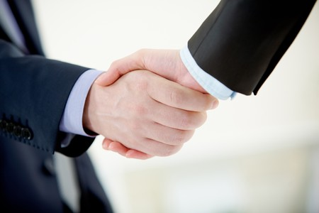 partnership power: Image of handshaking of business partners