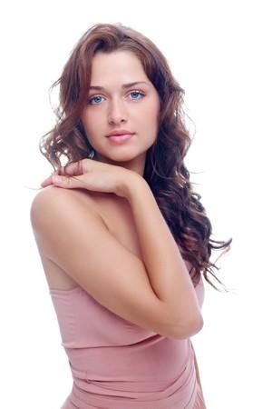 Portrait of elegant woman posing before camera in studio Stock Photo - 7409435